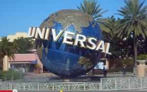 Universal Studios Rotating Globe