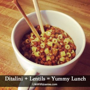 Ditalini With Lentils