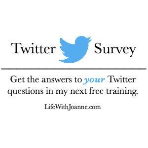 Twitter Survey To Help Shape My Free Training