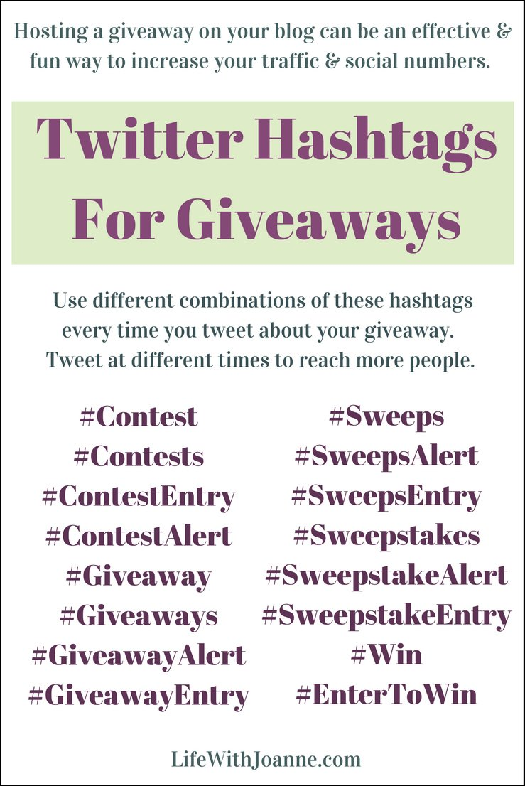 Twitter Hashtags For Giveaways