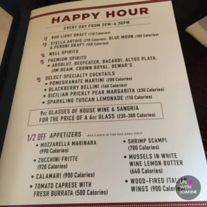 Happy Hour At Carrabba's Italian Grill
