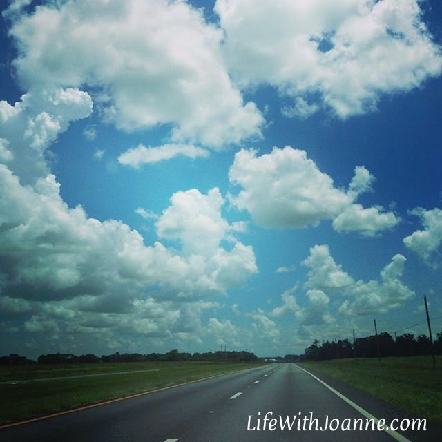 Open roads and blue skies