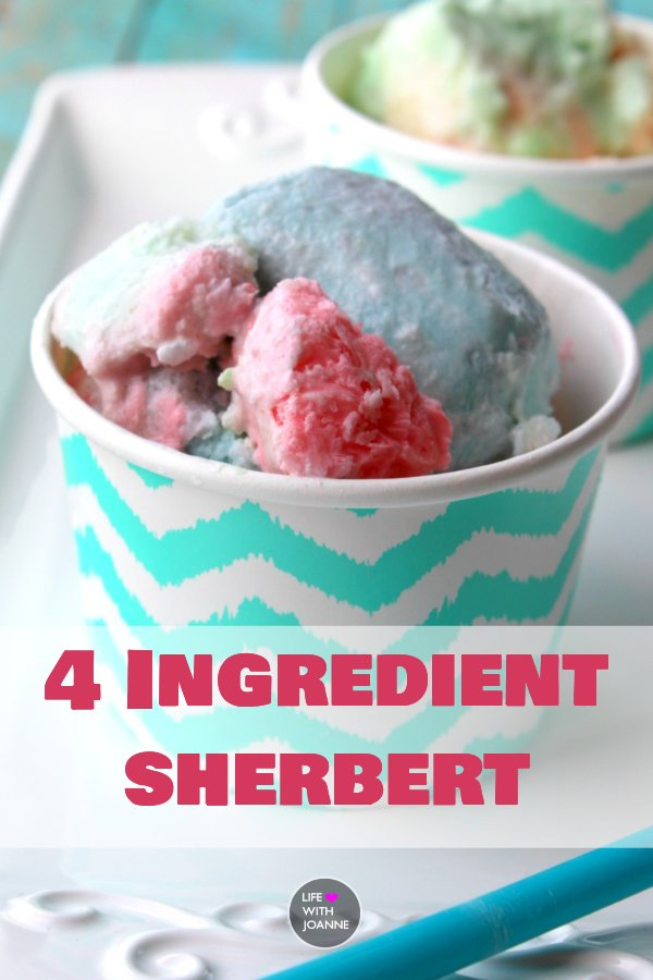 4 ingredient sherbert
