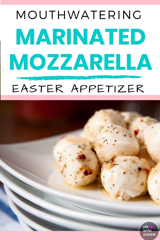 Easter appetizer - marinated mozzarella