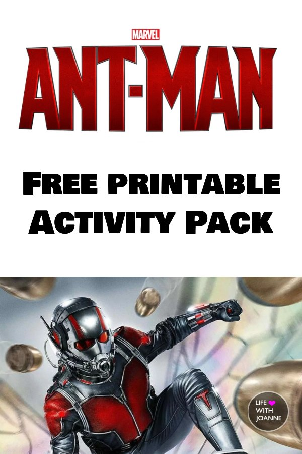 Free Ant Man Activity Pack