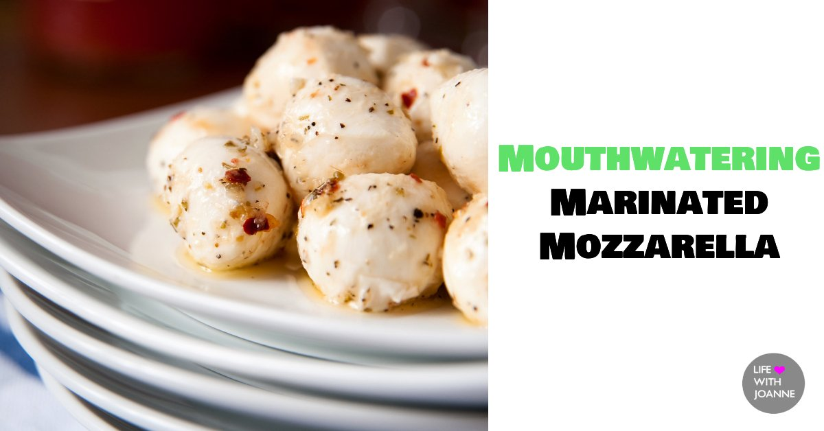 Mouthwatering marinated mozzarella