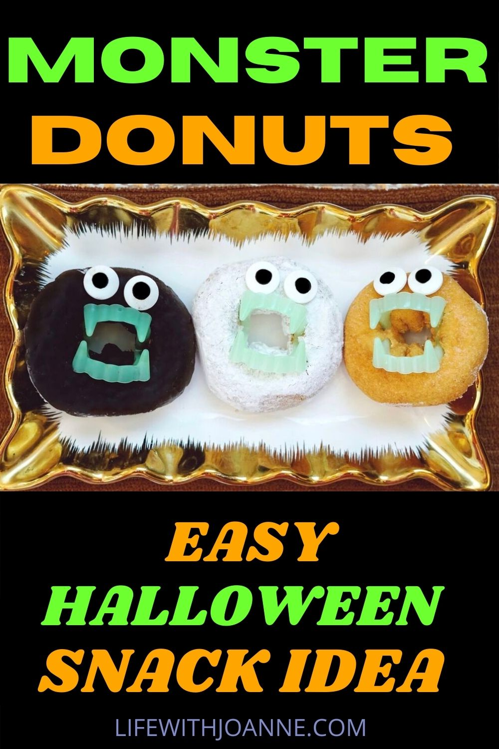 monster donuts easy halloween snack idea