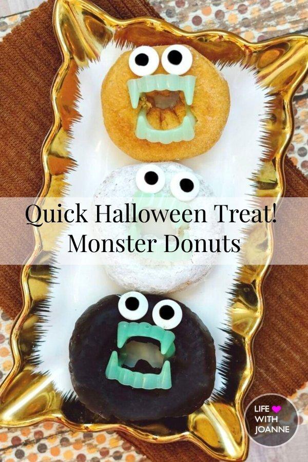 Quick Halloween Treat | Monster Donuts
