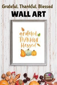Grateful, Thankful, Blessed Wall Art