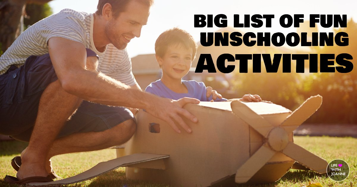 List of unschooling activities