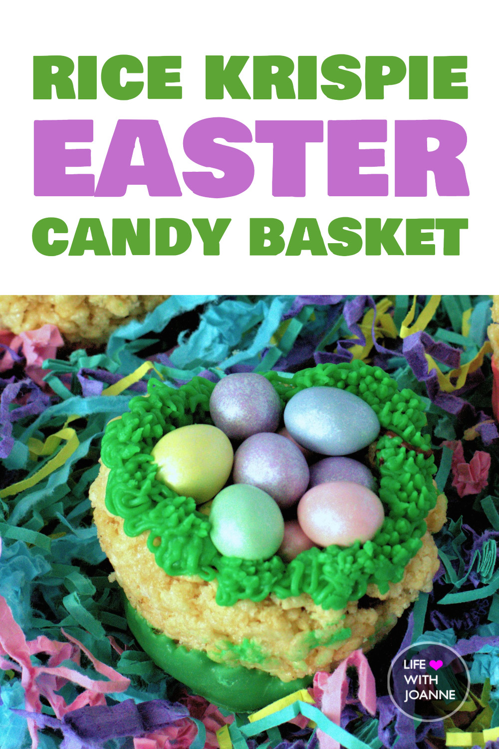 Rice Krispie Candy Easter Basket