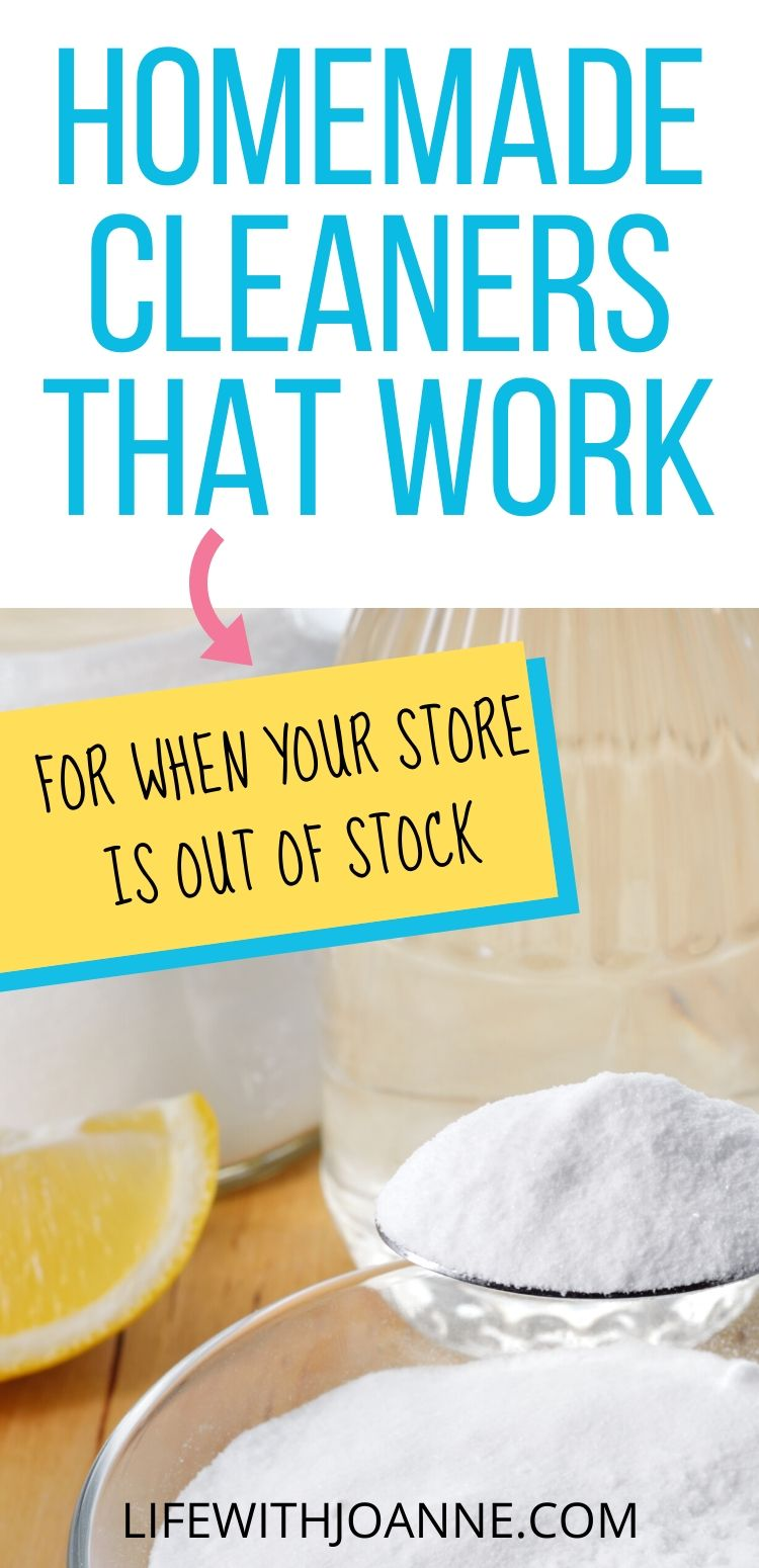 Homemade cleaners that work
