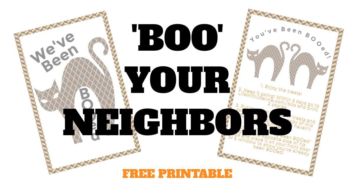 boo your neighbors