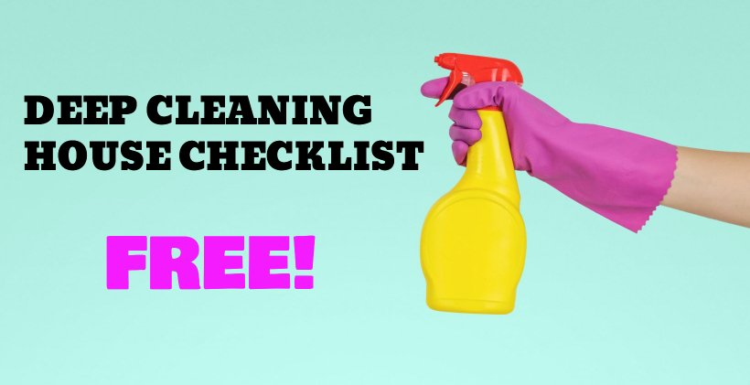 deep cleaning house list